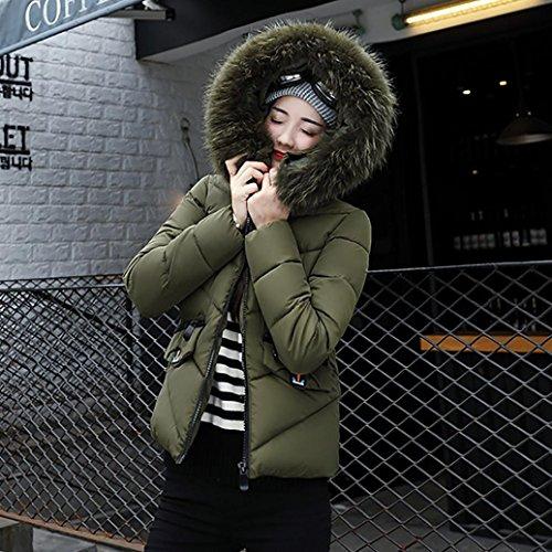 Donne Piumino Packable Delle Parka Soprabito Cappuccio Spessore Della Di Sottile Caldo Delle Mingfa Signore Militare Del Pelliccia Verde Inverno Leggero Cappotto 4z6Ez1wq