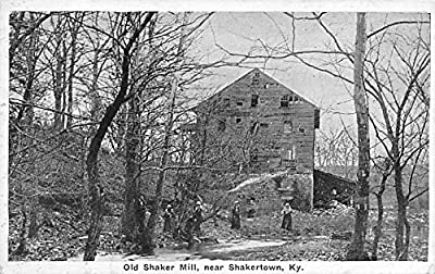 Old Mill Shakertown, Kentucky KY USA Shaker Postcard