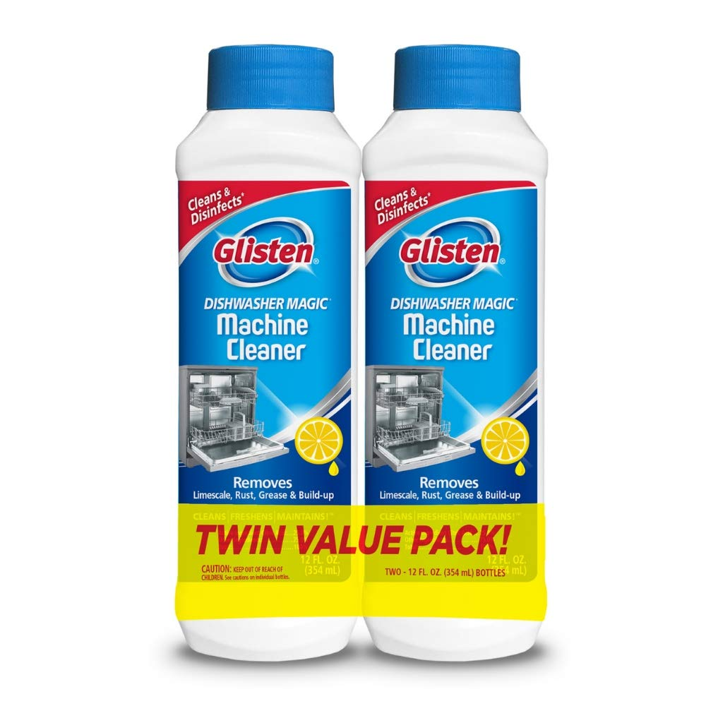 Glisten Dishwasher Magic, 12 oz (2 pack Lemon Scent)