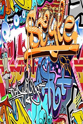 Graffiti Colour Letter 6' W x 9' H Video Studio Background Digital Printed Seamless Photography Background RKA Series Photographic Backdrop RKA200 -