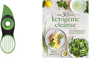 The 30-Day Ketogenic Cleanse: Reset Your Metabolism with 160 Tasty Whole-Food Recipes & Meal Plans & OXO Good Grips 3-in-1 Avocado Slicer, Green