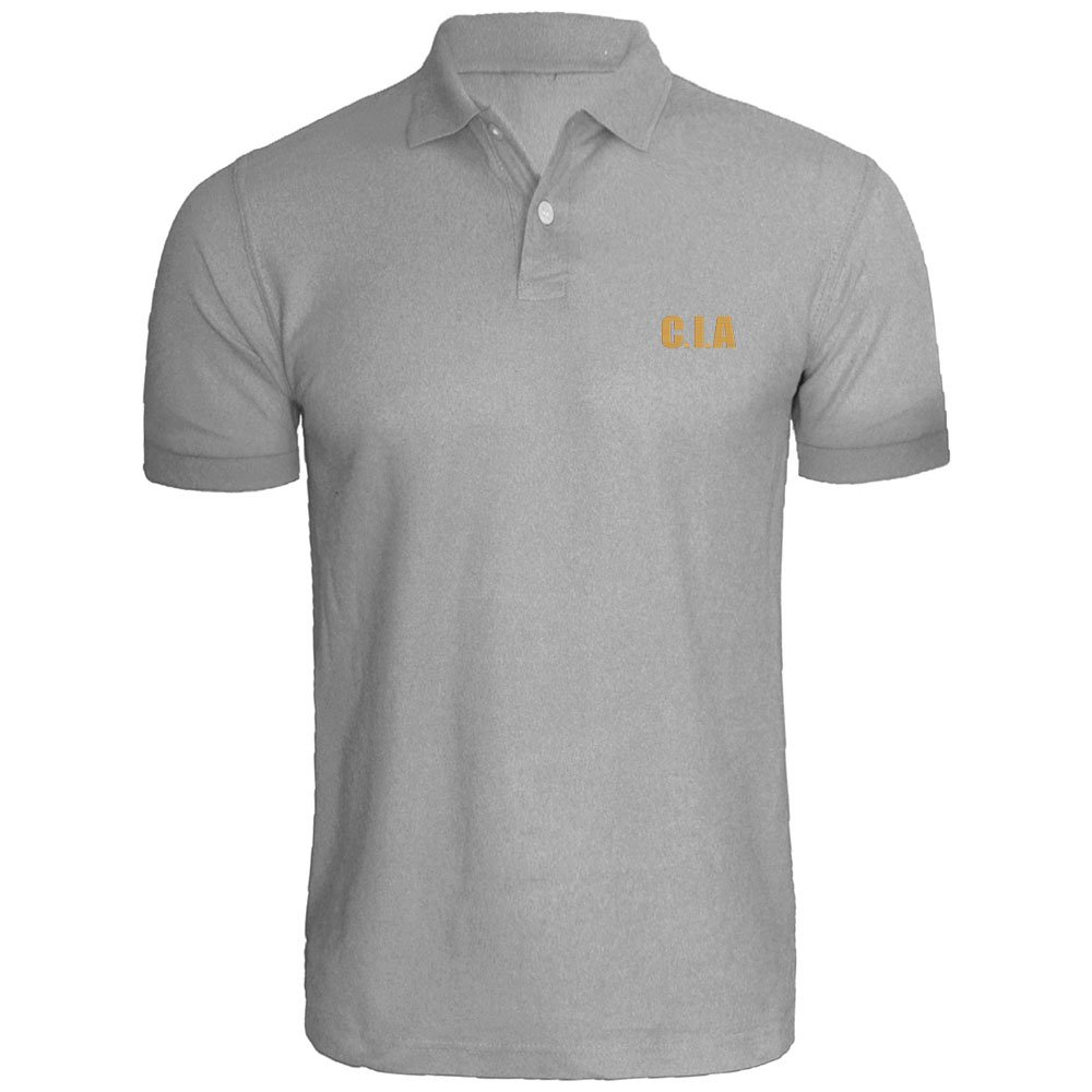 Loo Show Mens CIA Embroidered Polo Shirts Men Shirts
