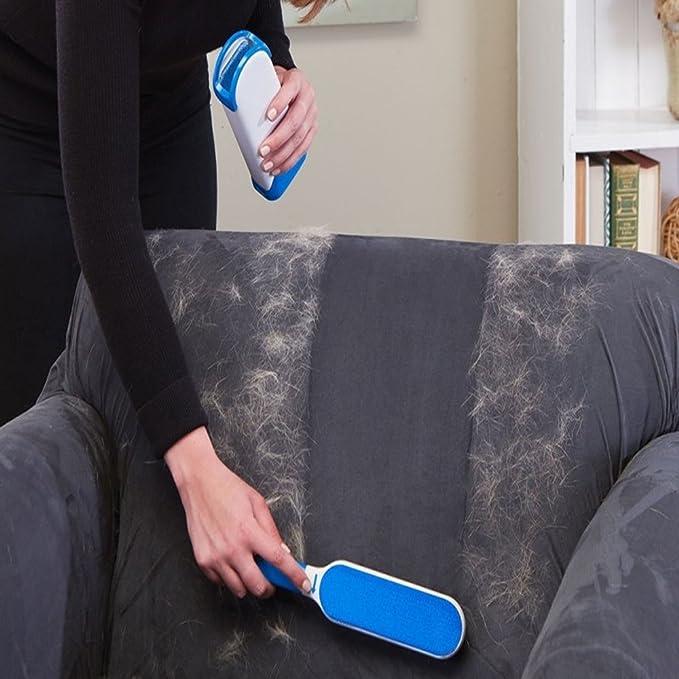 Cepillo Pelo de Animales, Reutilizable Mascota Fur Remover con Auto-Limpieza Base, Cepillo de limpieza para el hogar Cepillo de animal para cepillado perro ...