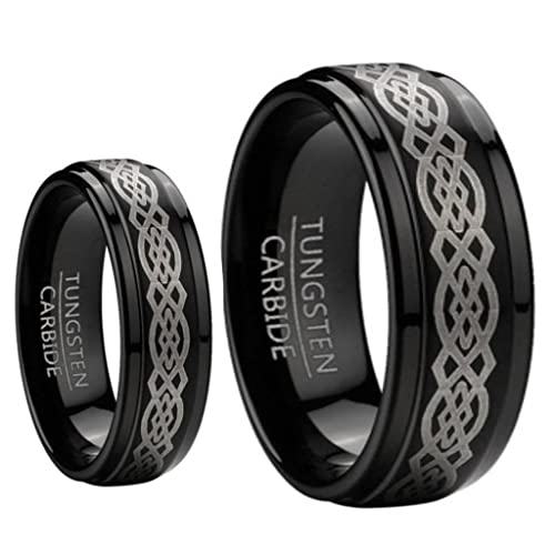 Tungsten Jeweler BCK1-LADIES6MM-MEN8MM-BLK-CELTIC product image 7