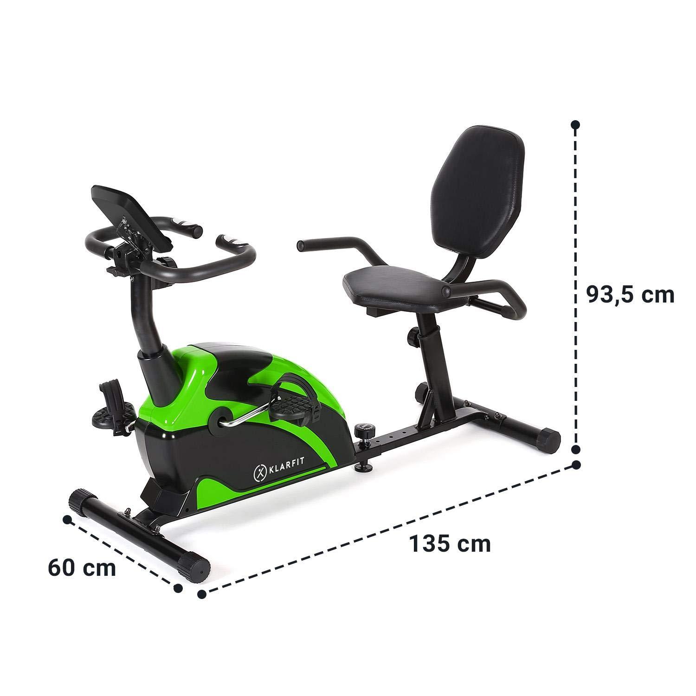 KLAR FIT Klarfit Relaxbike 6.0 Se /• V/élo couch/é /• Cardiobike /• V/élo dexercice /• Masse du Volant 12 kg /• R/ésistance magn/étique /à 8 Niveaux /• Support de Tablette /• PulseControl /&b
