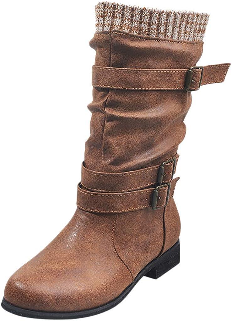 Zapatos De Mujer,RETUROM Botas De Mujer Botines Mujer Invierno Oto/ñO Negro Plano Pierna Alta Ante Casual Largo Alto Botas De Color S/óLido Plana Altas Botas Largas Zapatos Casuales