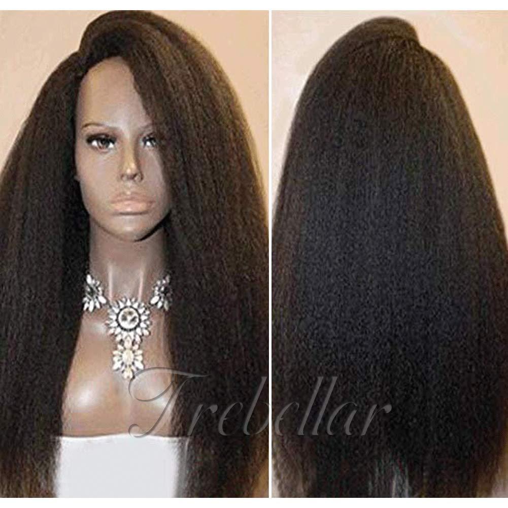 360 Lace Frontal Wig-Brazilian Kinky Straight Wigs Glueless 360 Lace Human Hair Wig für Black Women 360 Wigs mit Baby Hair 130% Density Nc 12Inch