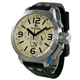 0d99ca24f TW STEEL Canteen Chronograph 50MM Mens Watch TW3: Amazon.co.uk: Watches