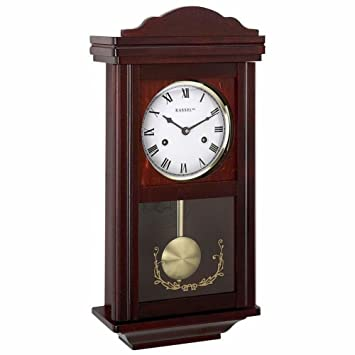 Buy Beautiful Kassel 15 Day Wood Wall Pendulum Clock With Glass Front Online At Low Prices In India Amazon In