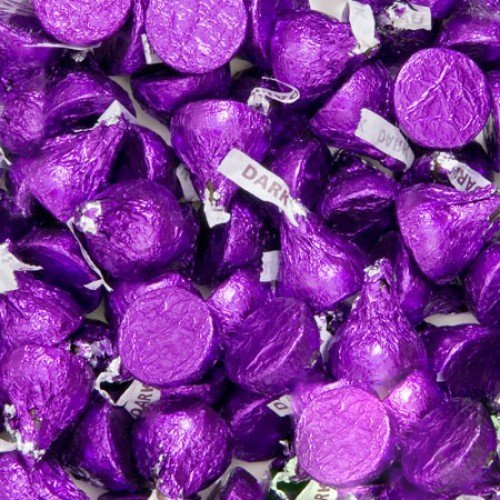 - Hersheys Kisses Dark Chocolate Purple Wrapping 2 Pounds