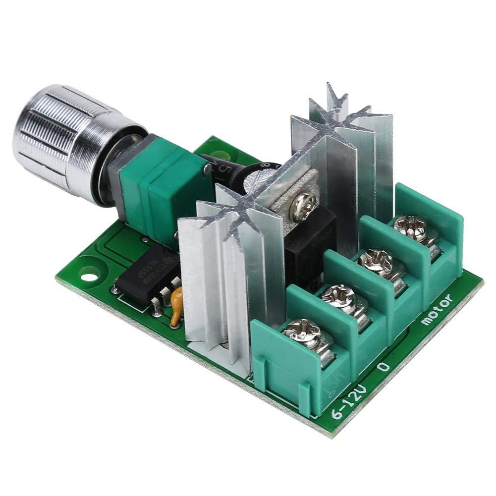 PWM DC Motor Regulador de velocidad Controlador DC 6V-12V 6A Interruptor de velocidad variable de alta potencia de Stepless