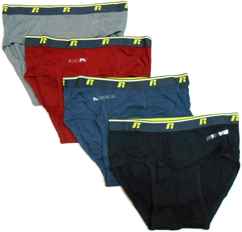 Russell Mens Comfort Performance 4-pk Sport Briefs Sizes S-2XL Spandex