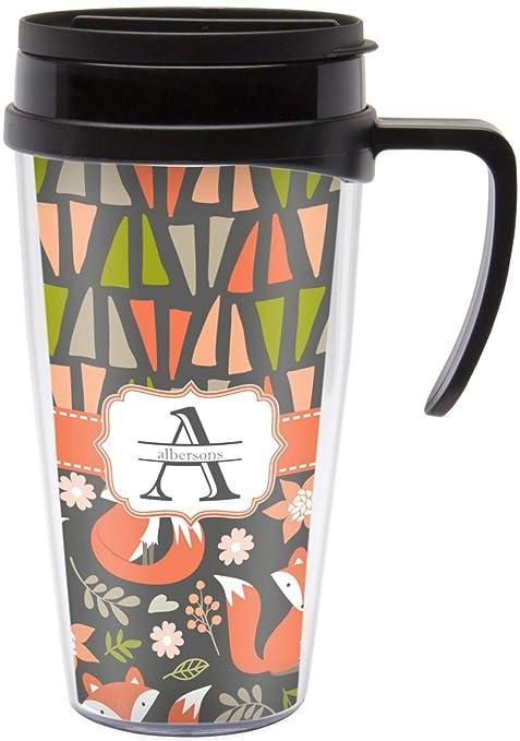 Amazon com: Fox Trail Floral Travel Mug with Handle
