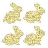 Gold Glitter Bunnies - No-Mess Real Gold Glitter Cut-Outs - Easter Confetti - Set of 24