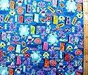 <Qキャラクター・キルティング生地>モンスターズインク(ブルー)#7・ディズニーの商品画像