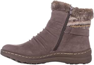 Bare Traps Womens arlow Fabric Almond Toe Ankle Cold Weather Boots