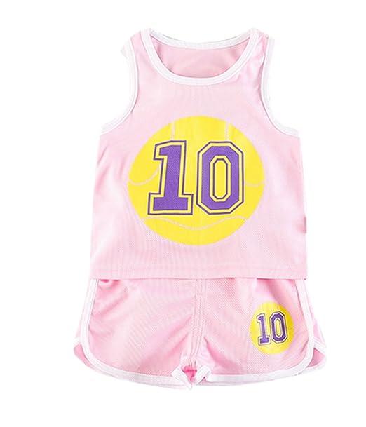 Abbigliamento da basket per bambini Pantaloncini da basket Set di  abbigliamento sportivo per età 3- 8c42ef3e3528