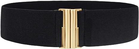 Pearl-Look vintage wide elastic stretch waist Belt Syuer Belt