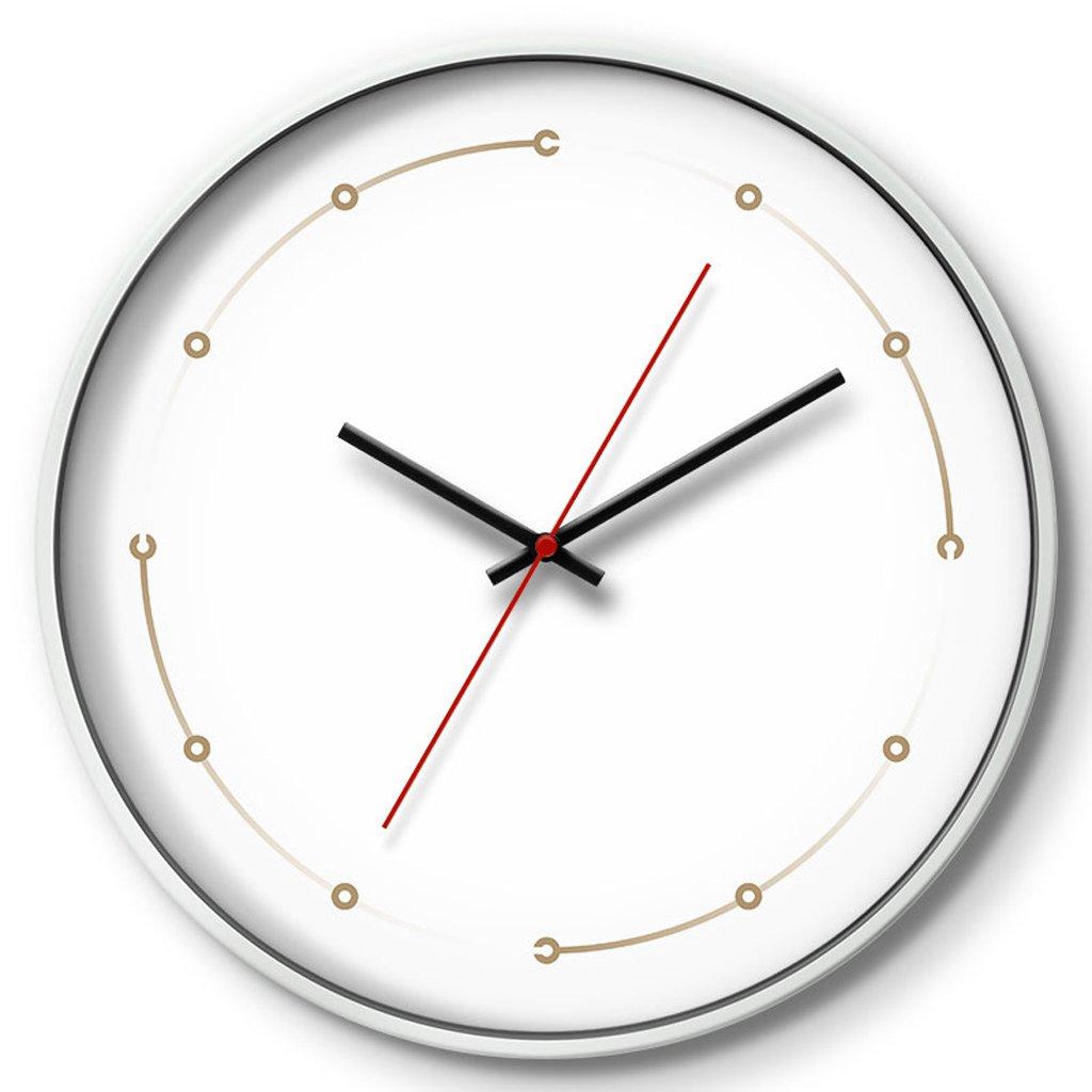 LINGZHIGAN 時計クリエイティブウォールクロックリビングルームベッドルームミュートクロッククォーツ時計多次元スペース ( 容量 : D , 色 : 白 ) B07BWC4RTX D|白 白 D