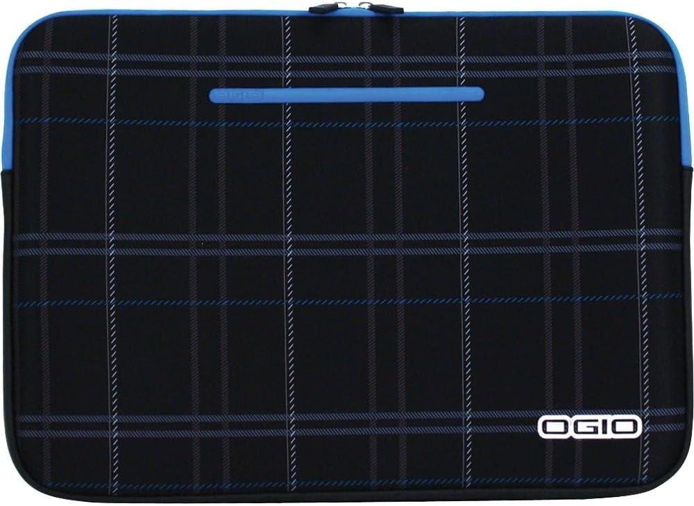 OGIO Deluxe Neoprene Laptop Sleeve - Fits Most 16 in. Laptops, Top Zip Sleeve, OGIO Gripstrip Technology, Jersey Polyester Cover, Bluebinski