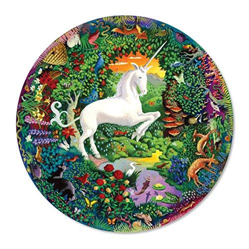 eeBoo Unicorn Garden Round Puzzle, 1000 Pieces