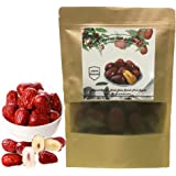 Dried Red Jujube Dates, Red Date,Organic Crisp Dates Chinese Hong Zao Jujube Chinese Superfoods Dried Dates (250g/0.55 lb)