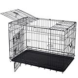 36'' Top Opening Dog Crate Foldable Metal Pet Cage PCT03