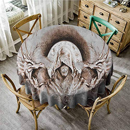 Witch Taffeta - Rank-T Round Tablecloth Outdoor Fitted 35