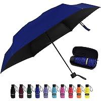 Yoobure Small Mini Umbrella with Case Light Compact Design Perfect for Travel Lightweight Portable Parasol Outdoor Sun…