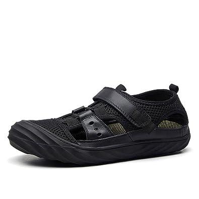 LEDLFIE Sandalen Mode Herren Freizeitschuhe Im Freien Strand Schuhe HerrenschuheBlack-41