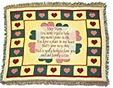 "Step Mom ""Place In My Own Heart"" Afghan Throw Blanket for Stepmother"
