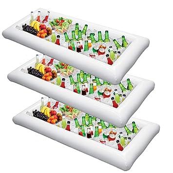 Bandeja de hielo inflable para servir ensaladas, comida ...