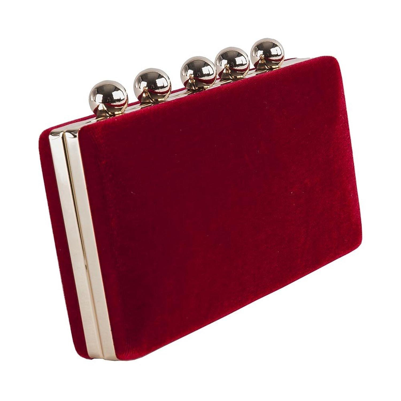 Bolsa de embrague, Marica, Rojo, terciopelo de damasco: Amazon.es: Ropa y  accesorios
