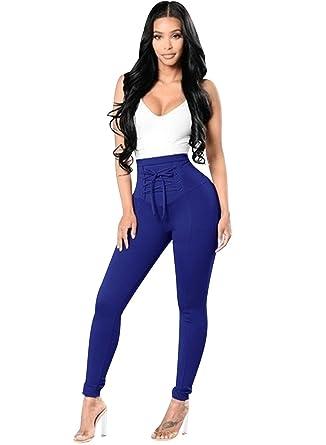 ISSHE Jegging Femme Pantalon Skinny Taille Haute Slim Tregging Pantalons  Stretch Femmes Legging Crayon Pantalon Bandage 98a237104084
