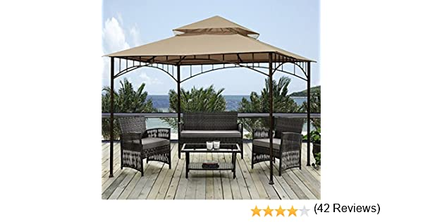 Sunjoy 10 x 10 Grove Patio Gazebo del pabellón: Amazon.es: Hogar