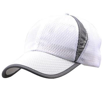 Unisex Verano deporte al aire libre del Snapback de las gorras de béisbol ajustable gorro blanco: Amazon.es: Deportes y aire libre