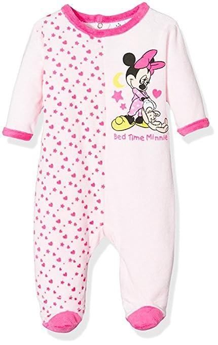 f280f0eb1152e Pyjama velours bébé fille Minnie Rayé Rose et Violet de 3 à 23mois (12 mois