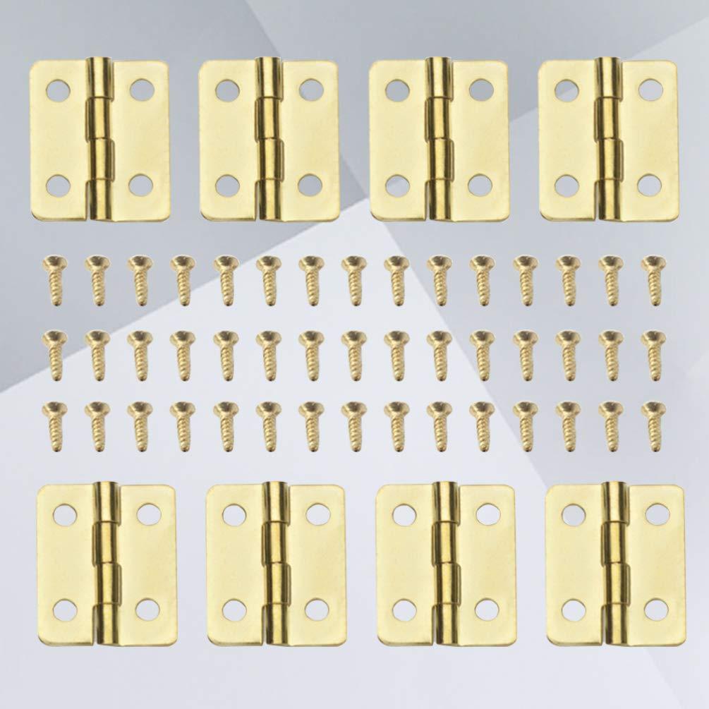 Exceart Mini Bisagras de Mariposa Bisagras de Gabinete para Joyero Bisagras de Puerta de Caj/ón de Caja de Madera