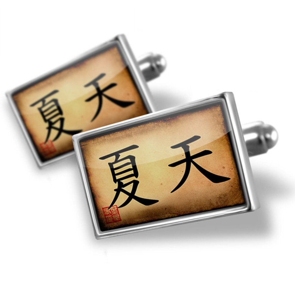 Cufflinks Chinese characters, letter Summer - Neonblond