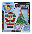 Melissa & Doug Stained Glass Made Easy Craft Kit - Santa and Tree Ornaments