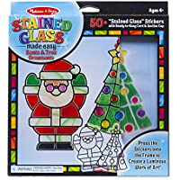 Melissa & Doug Stained Glass Made Easy Craft Kit - Santa...