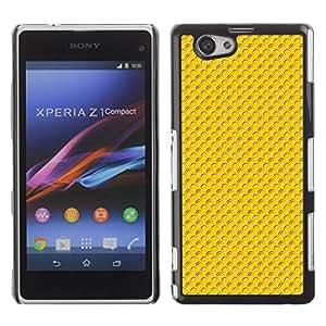 TopCaseStore / la caja del caucho duro de la cubierta de protección de la piel - Pattern yellow dots - Sony Xperia Z1 Compact D5503