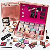 Dawn Till Dusk 80pc Pro Rose Gold Cosmetic Makeup Vanity Beauty Travel Gift Storage Case Set