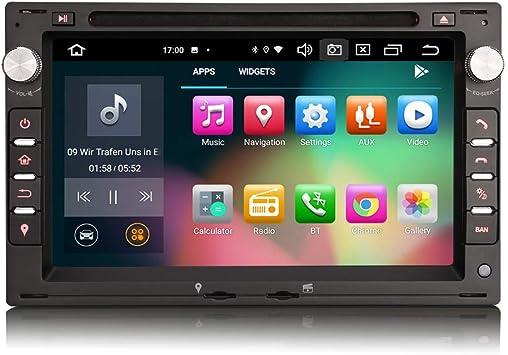 ERISIN Android 10.0 Estéreo de Automóvil para VW Passat Peugeot Golf MK4 T5 Asiento 7 Pulgadas Soporte GPS Sat Nav Carplay Android Auto Bluetooth A2DP ...