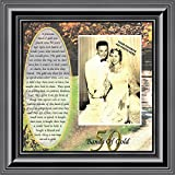 Bands of Gold, Personalized 50th Wedding Picture Frame, 10x10 6779 (10x10, Black3)