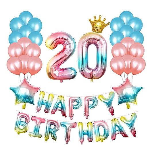 Amazon.com: Toyvian Gradient Balloons Alphabet Balloons ...