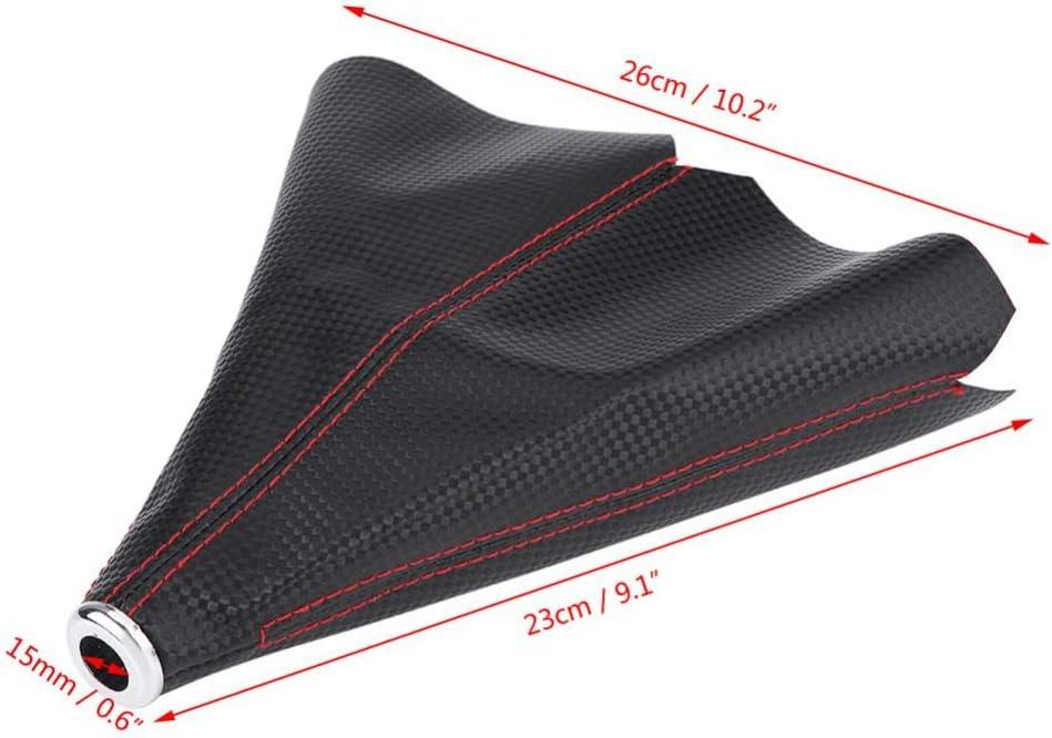 color negro brillante con punto rojo funda para gaiter funda para maletero Cubierta de piel sint/ética para palanca de cambios de coches funda universal para palanca de cambios