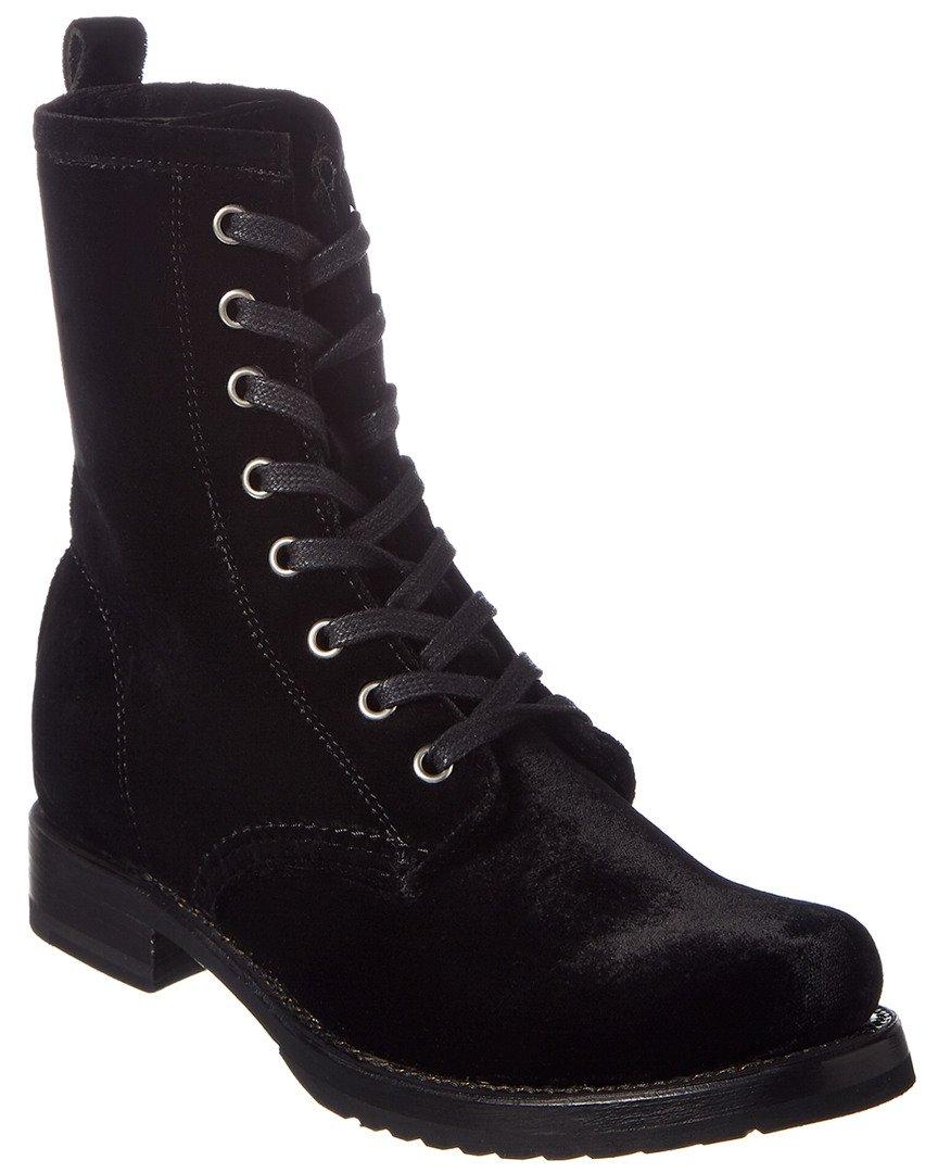 FRYE Women's Veronica Combat Boot B06VSQH6F7 9.5 B(M) US|Black Velvet