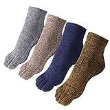 Cosfash Yoga Socks Non Slip Skid 5 Toe Grips Pilates Barre for Men Women 4 Pack