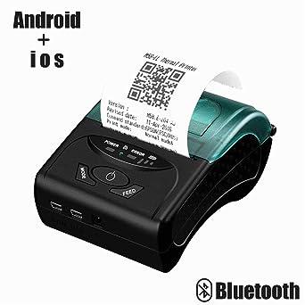 Impresora térmica portátil para recibos, mini impresora ...